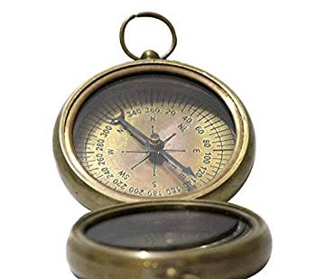 collectiblesBuy Nautical Vintage Antique Finish Compass 2.2 inches Shiny Brass Finish Compass