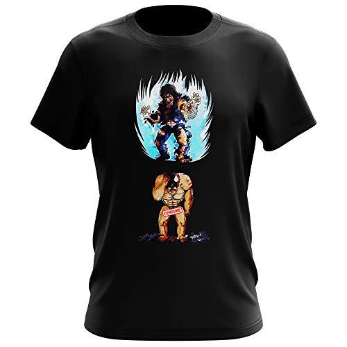 Okiwoki T-Shirt Homme Noir Parodie Ken Le Survivant - Kenshiro - Trop de Puissance. !!! : (T-Shirt de qualité Premium de Taille XL - imprimé en France)