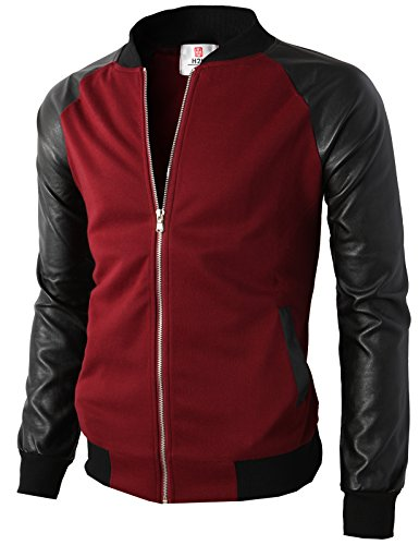Men's Style Leather Bomber Jacket