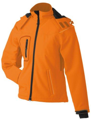 James & Nicholson Damen Jacke Softshelljacke Winter orange (orange) Large