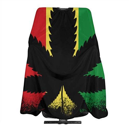 Fahne von Äthiopien Haarschnitt-Schürze, Polyester, wasserdicht, professioneller Friseurumhang, Unisex, leicht, mit Druckknopfverschluss, 139,7 x 167,6 cm