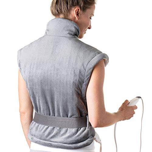 Pure Enrichment® PureRelief™ XL Heating Pad for Back & Neck - Heat Therapy for Muscle Pain in Neck, Back and Shoulders - Ideal for Cramps and Sore Muscles - Fast-Heating Technology with Auto Shut-Off