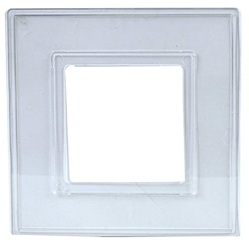 BURNTEC Finger Plate (2 in a Pack) Surround for Single Light Switch Faceplate or Electrical Plug Socket Back Panel Clear or White (Clear)