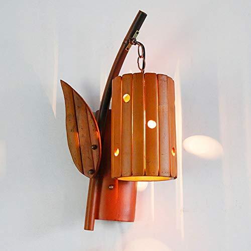 Hancoc Bambú Lámpara Antigua De Bambú Creativo Restaurante Luces Lámpara De Pared De La Habitación Balcón Pasillo Escaleras Vendimia 25CM Lámpara De Pared * 48cm