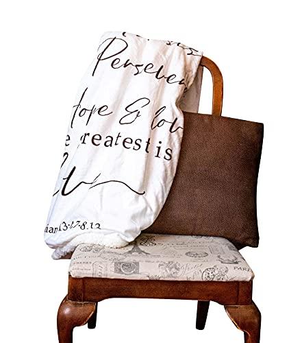 Love Is Scripture Fleece Throw Blanket