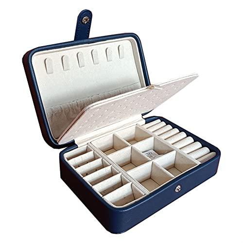 Caja de joyería Caja de joyería portátil Portátil Doble Pendientes Simple Anillo Joyería El ataúd Puede Contener 68 Pendientes