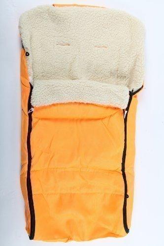 Baby-Fußsack Fußsack für Kinderwagen aus Lammfell gelb