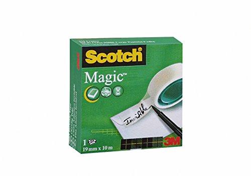 Scotch M8101910 Klebeband Magic 810 (Zellulose Acetat, 19 mm x 10 m) matt/unsichtbar