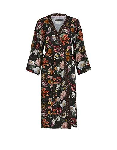 ESSENZA Kimono Sarai Filou Blumen Pfingstrosen Tulpen Viskose Espresso, XL