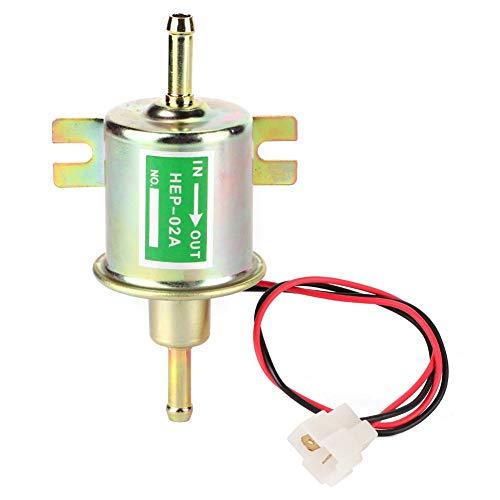 Bomba de combustible eléctrica, perno de baja presión universal 12V que fija la bomba de gasolina diesel HEP-02A