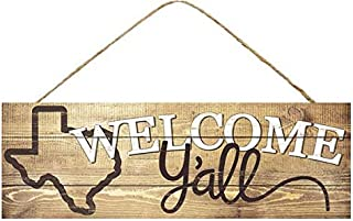 GiftWrap Etc. Texas Welcome Y'all Wooden Sign - 15