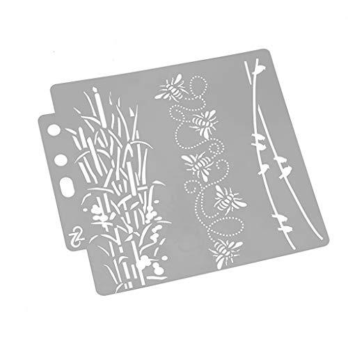 JIACUO Vogel Stencils Sjabloon Schilderen Scrapbooking Embossing Stempelen Album Card DIY