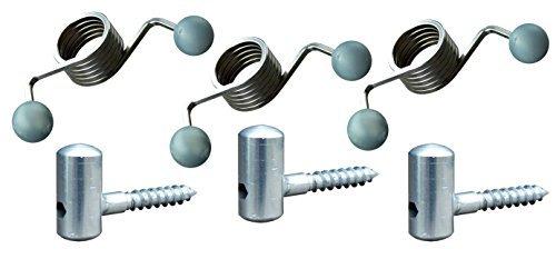 EcoSavers Universal Türschließer Türfeder - Set von 3 - Stahl