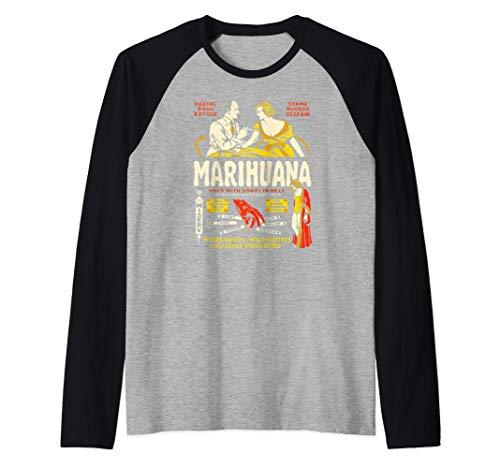 Anti Weed Shirt Art-Marihuana Marijuana Weed Propaganda Camiseta Manga Raglan
