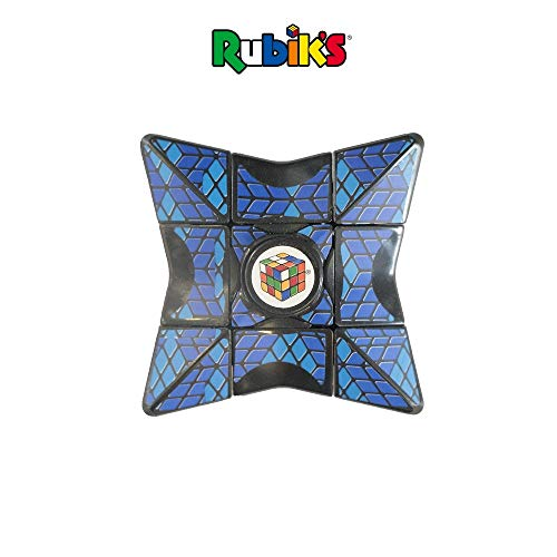 Rubik's Cube Magic Star Spinner, Perfect for Fidgeting, Simple & Fun Solving Element, Spin It, Twist It, Balance It & Solve It, Age 4+, Durable Plastic, 5.0'x3.2'x1.0' (Blue)