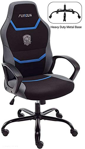 Gaming Chair Racing Style Office Chair Swivel Computer Gamer Chair with Fully Foam, Esports Video Game Chair, Lumbor Support