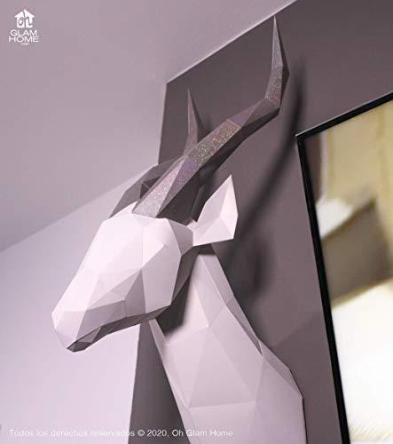 Gacela - kit DIY Pre Cortado Papercraft - Puzzle, Kit de ensamblaje 3D - Escultura de Papel