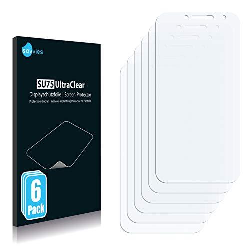 Savvies 6X Schutzfolie kompatibel mit Medion Life E5004 (MD 99628) Bildschirmschutz-Folie Ultra-transparent