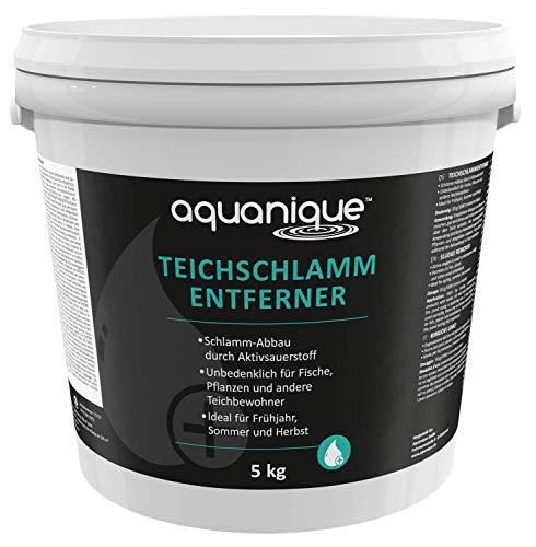 AQUANIQUE Teichschlammentferner Kombi 5 kg, für Teiche, reicht für bis zu 100.000l, Teichschlamm Abbau durch Aktivsauerstoff, Vorbeugend vor Verschlammung
