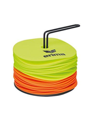 Erima Unisex Markierungsscheiben Set, Neon Gelb/Orange, 1 EU