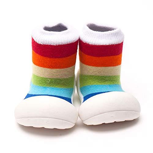 Attipas – Chaussons de bébé unisexe de coton multicolore