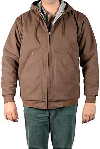 Ben Davis Men s Fleece Sherpa Lined Hooded Canvas Jacket Brown product image