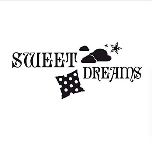 Ccfqiangtie Sweet Dreams Stickers Murali Cloud Stars Cuscino Sfoderabile In Vinile Decorazioni Per La Casa Fai Da Te Wall Sticker Baby Room 100 * 44 C
