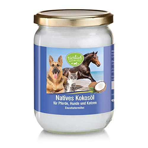 Sanct Bernhard tierlieb Kokosöl für Pferde, Hunde und Katzen, aus kontrolliertem Anbau, rein mechanische Pressung, Inhalt 500 ml
