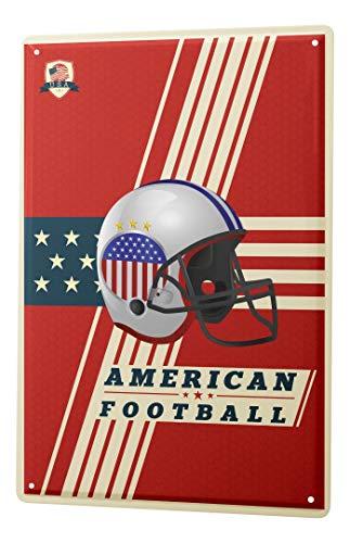 LEotiE SINCE 2004 Blechschild Vintage Retro Metallschild Wandschild Blech Poster Fun American Football