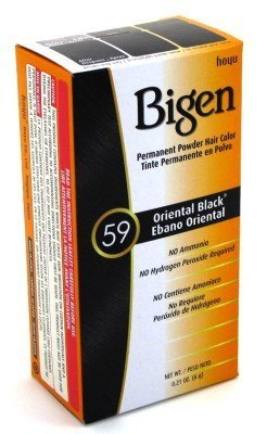 Bigen Powder Hair Color #59 Oriental Black .21 oz. (Case of 6)