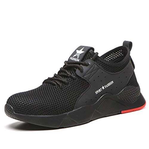 AZLLY Heren Veiligheidsschoenen Mode Casual Sport Schoenen Ingebouwde Staal Hoofd Anti-Smashing Anti-Piercing Ademende Werk Laarzen voor Mannen En Vrouwen