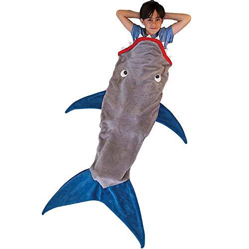 Comb Hai-Decke Schwanz für Kinder - Shark Schlafsäcke, Super weich & bequem All Seasons Schlafsack Sofa Wohnzimmer Quilt.Weihnachts & Geburtstagsgeschenke für Kinder & Jugendliche