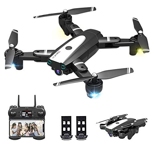 3T6B Drohne mit Kamera 1080P HD WiFi Live Video, 24 Minuten Lange Flugzeit, One Key Return, Live Video, Orbit Flug, Headless Modus, für Erwachsene und Kinder