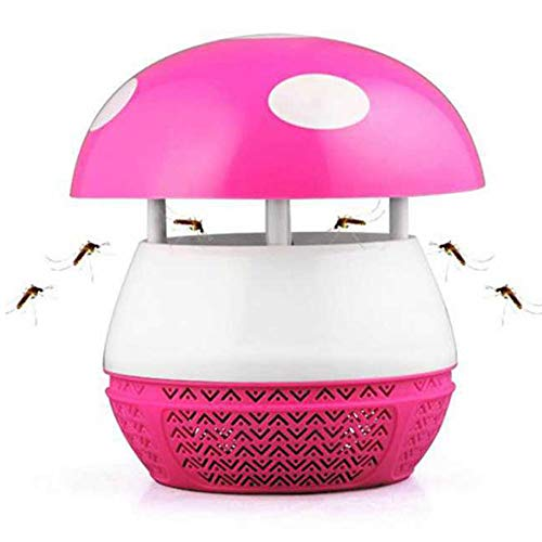 Efficiënte USB-muggenval afstotend LED elektronische fotokatalysator bed anti-muggenvernietiger lamp vliegen insect Bug val ongediertebestrijder (kleur: roze)