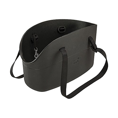 Ferplast 79501017 Hundetragetasche with-Me Small, aus innovativem Eva Gummi, 14 x 35 x 22 cm, schwarz