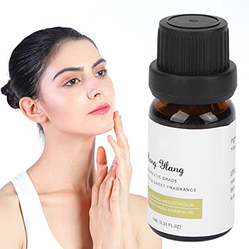 Aceites Esenciales, Aceite Esencial de Ylang Ylang Aceite de Fragancia Natural para Masaje SPA 10ml, Aceite Nutritivo para Difusores Naturales Uso en Aromaterapia y Difusores