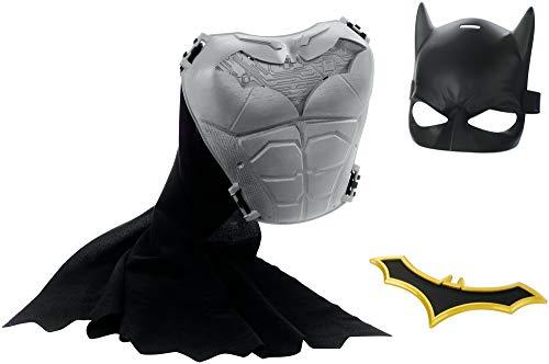 JUSTICE LEAGUE- DC Batman Missions Disfraz Traje y complementos de superhroe, Multicolor, Talla nica (Mattel FVY33)