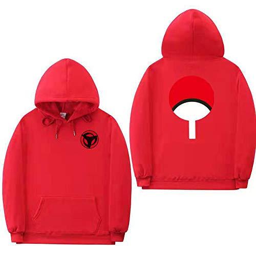 ZXRYF Naruto Cosplay Sweatshirt Manches Longues Sweat-Shirt À Capuche 3D Impression Hooded d'automne Et d'hiver Convient pour Les Hommes Et Les Femmes Sweat Capuche Cadeaux,Rouge,L