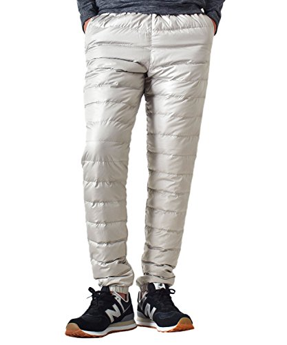 (アローナ)ARONA ダウンパンツ メンズ 防寒パンツ 登山 アウトドア 撥水 透湿 防風/YC A02アイボリー LL