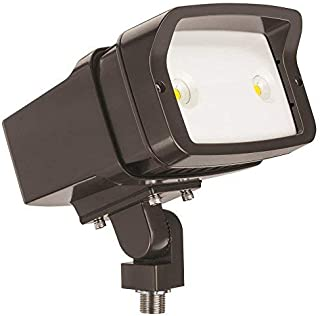 Lithonia Lighting OFL1 LED P1 50K MVOLT THK DDBXD M4 5000K Color Temperature Size 1 Floodlight with P1 Performance Package - Knuckle Mounted