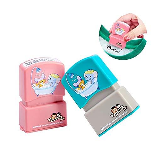 sello ropa niños personalizado,sello ropa niños, pegatina de sello que no se descolora fácilmente para evitar que el bebé se pierda, sellos adhesivos (PINK)