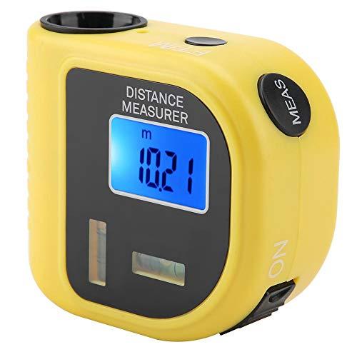 Boquite Distanziometro Portatile Portatile ad ultrasuoni Laser per Decorazioni domestiche Giallo (Batteria Non Inclusa)
