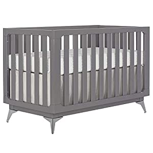 Slumber Baby London 4-in-1 Convertible Crib in Storm Grey, Greenguard Gold Certified