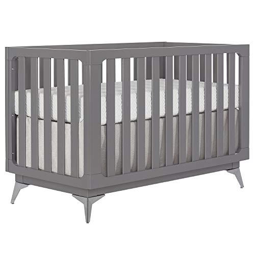 Slumber Baby 4-in-1 Convertible Crib, London, Storm Grey, Greenguard Gold Certified