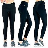 Formbelt Laufhose Damen mit Tasche lang - Leggins Stretch-Hose Lauf-Tights für...