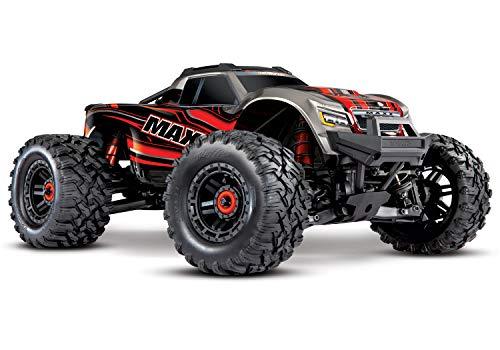 Traxxas Maxx TSM SR Rot Brushless RC Modellauto Elektro Monstertruck Allradantrieb (4WD) RTR 2,4 GHz