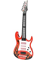 Planet of Toys Boys and Girls Light and Sound Rock Music Guitar for Kids (Red and White)