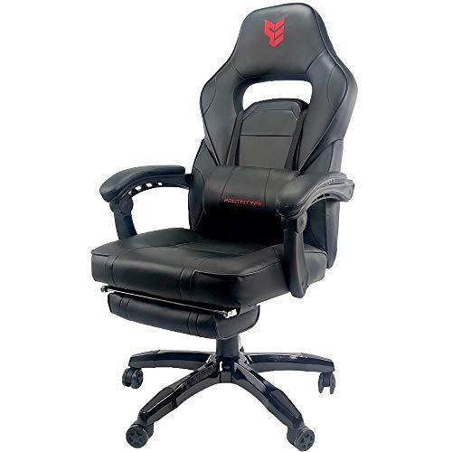 Preisvergleich Produktbild TITAN - COMFORT EDITION - Gaming - Stuhl,  für Büro,  Hobby-Spieler oder E-Sportler,  mit Fußlehne,  Schwarz,  Leder PU