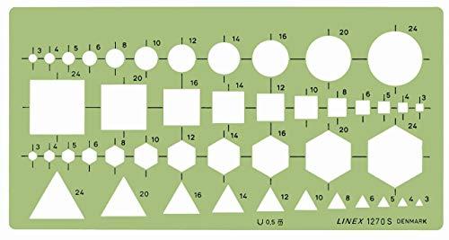 Linex 100414320 combinatiesjabloon, basisfiguren cirkels, vierkant, zeshoek en driehoek