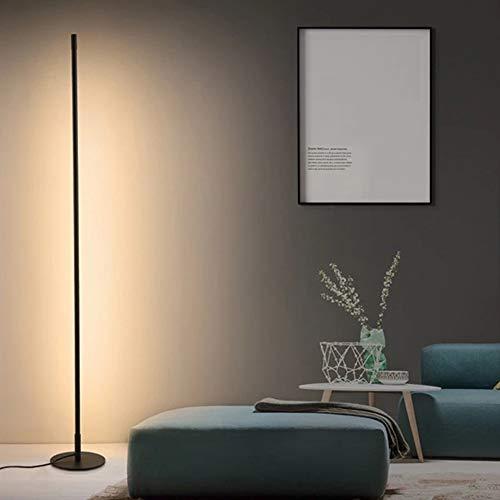 WRQ Lámpara Pie Esquina LED RGB Nórdica Minimalista 140 Cm Altura Que Cambia Color con Control Remoto para Salón, Dormitorio Y Oficina Decoración, 20W